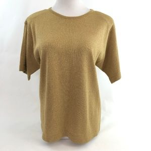 Vintage Ashley Hill Metallic Gold Sweater